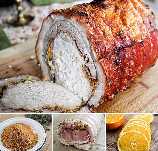 Porchetta: A 3 pound pork loin wrapped in a 5 pound piece of skin-on pork belly.