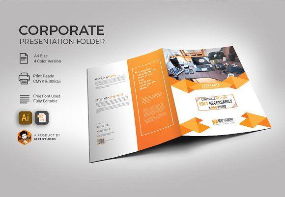 corporate folder template creativework247 stationery design