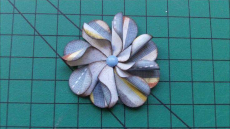 Flor de papel scrapbook furador de coração - Scrapbook flower heart shaped