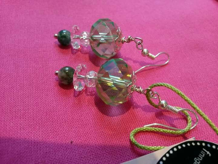 ☆♡☆Earrings: Swarovsky Crystals, Nature-stones and Silver☆♡☆
