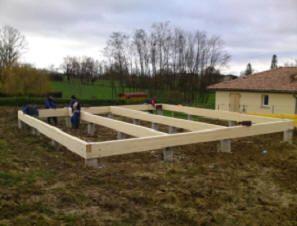 Best 25 construction ossature bois ideas on pinterest for Association aide construction maison