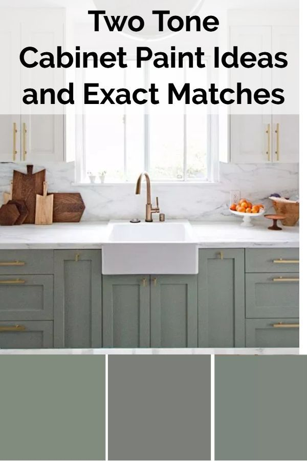 Two Color Kitchen Cabinets Ideas And Exact Paint Color Matches