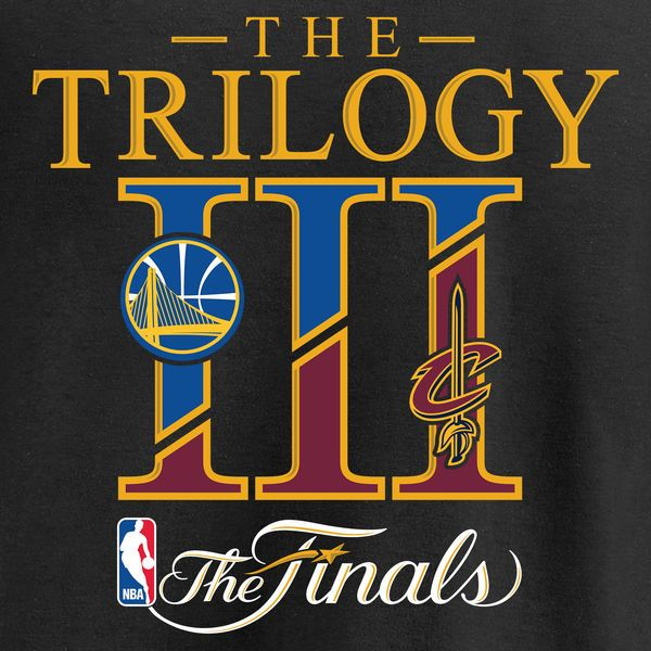 Cleveland Cavaliers vs. Golden State Warriors Fanatics Branded 2017 NBA Finals Bound Dueling Trilogy T-Shirt - Black