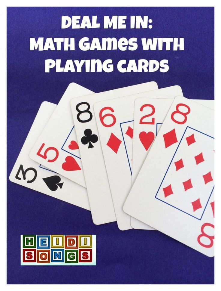 Deal me in math games with playing cards kindergarten