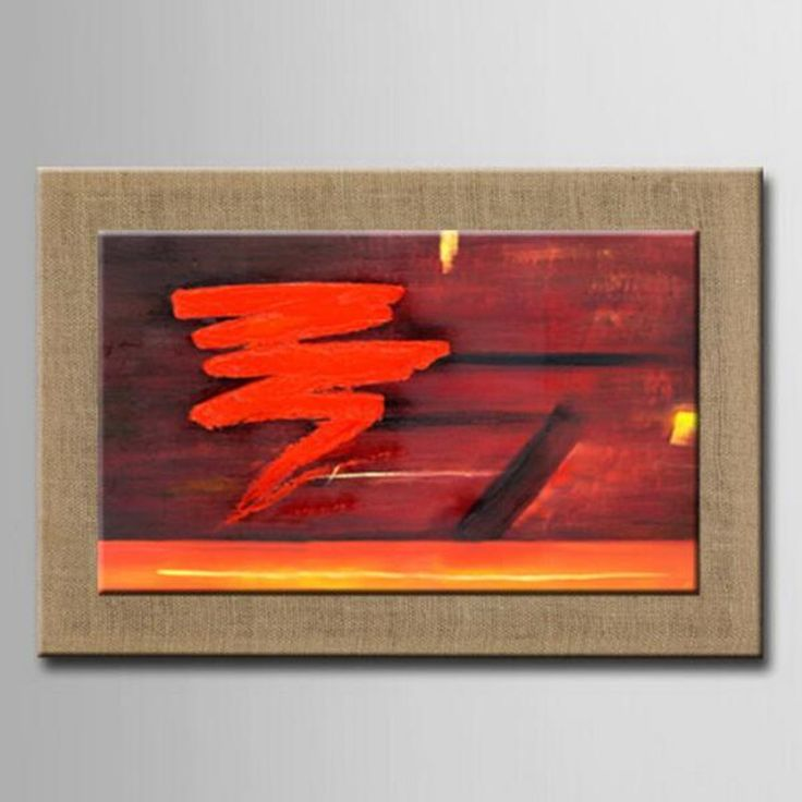Cheap picture for living room, Buy Quality wall pictures directly from China decorative painting Suppliers: 100% Hand Painted Abstract Nature Linen Oil Painting Red Art Wall Picture For Living Room,Office ,Hotel Decor Painting