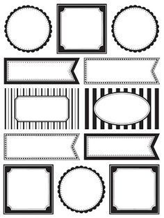 Black and white | stickers | planner | tags