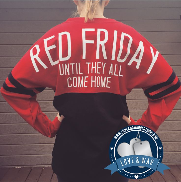 Red Friday until they all come home Varsity crew - LOVEANDWARCLOTHING
