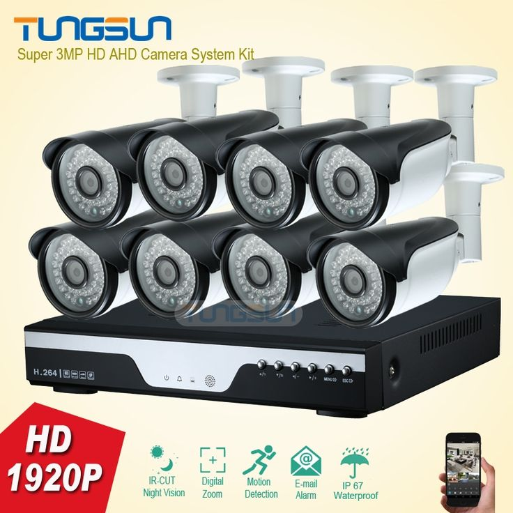 420.86$  Buy here - http://ai8mb.worlditems.win/all/product.php?id=32788901803 - New Super 3MP full HD 8 Channel 1920P Surveillance Camera kit Metal Bullet Outdoor Security Camera 8CH DVR CCTV System recording