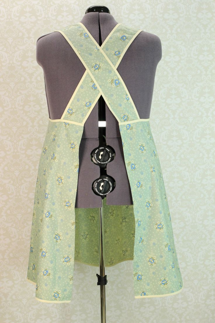 Criss Crossed Straps Plus Size Apron in Powder by SusannahsKitchen, $39.00