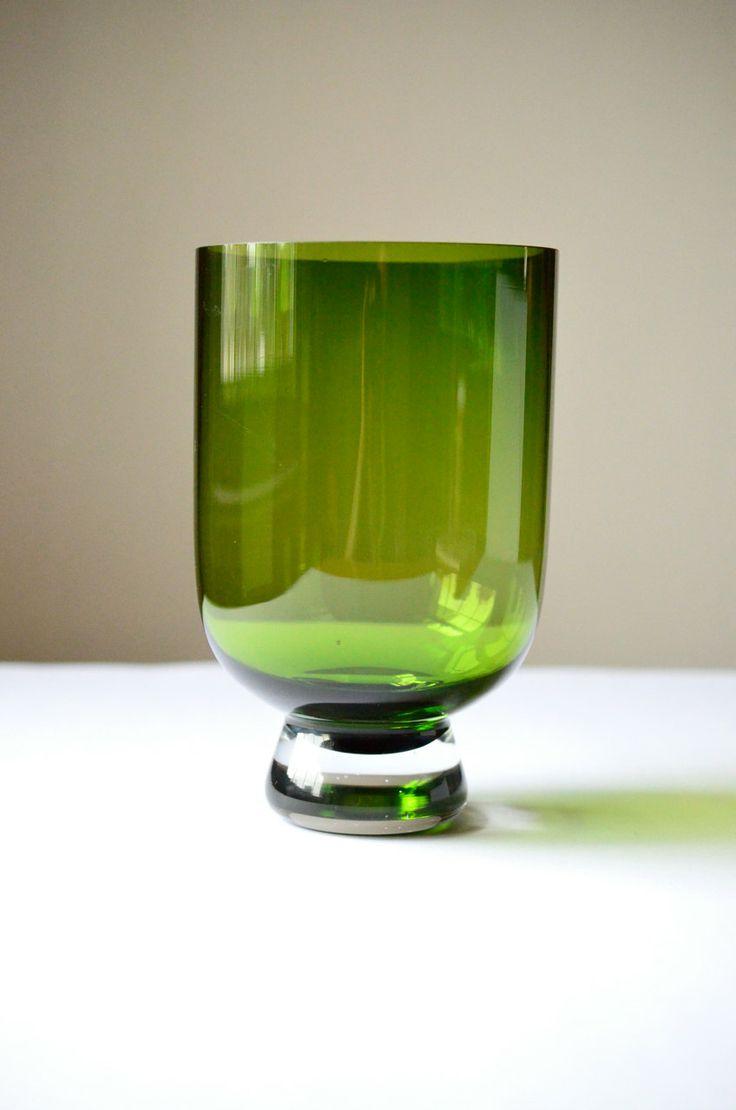SALE Widemouth Green Handblown Scandinavian by NewSwedenVintage, $18.00