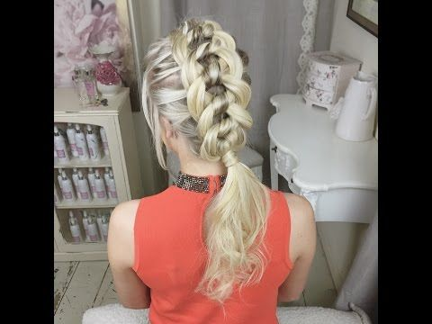 The Four Strand Knot Braid by SweetHearts Hair Design - YouTube