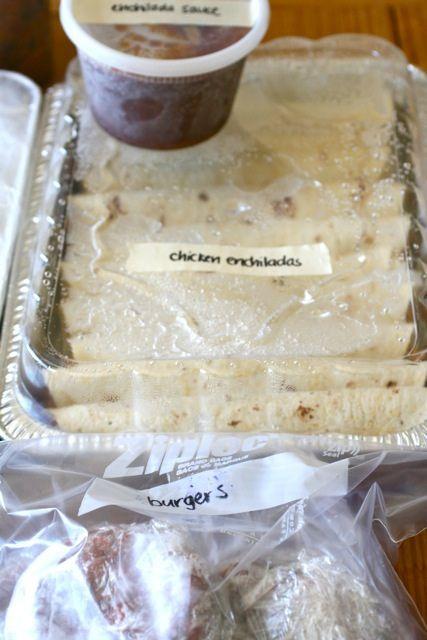 Stocking the freezer- make ahead meals