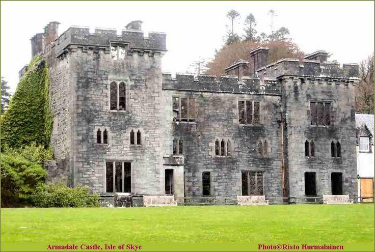 Armadale castle, Isle of Skye, Scotland, former home of the MacDonalds, built…