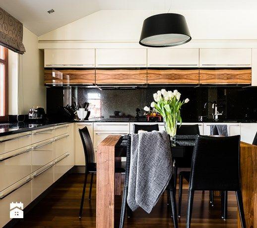 Apartament - Neptun Park - Gdańsk - Duża otwarta kuchnia w kształcie litery u, styl nowoczesny - zdjęcie od Anna Serafin Architektura Wnętrz
