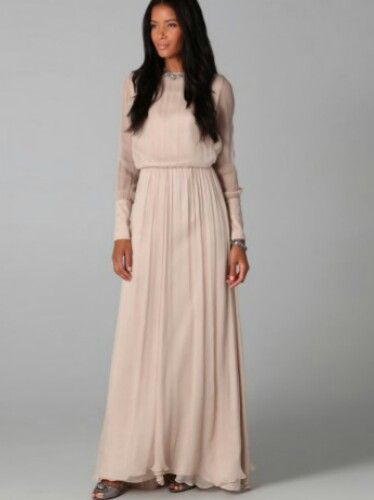 style long dress chiffon