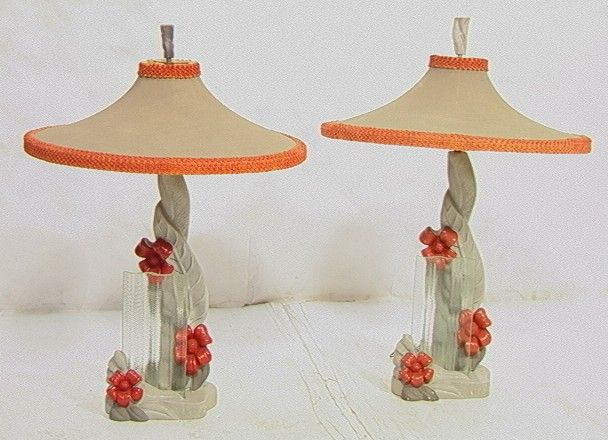 1950u0027s reglor of california chalkware lamps - Lamp Shades For Table Lamps