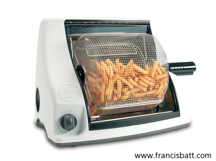 GRILL FRIT vous fait découvrir une nouvelle façon pour cuire les frites, sans graisse ni huile.  Elle fait dorer vos frites sainement, sans matière grasse, pour une alimentation plus diététique.