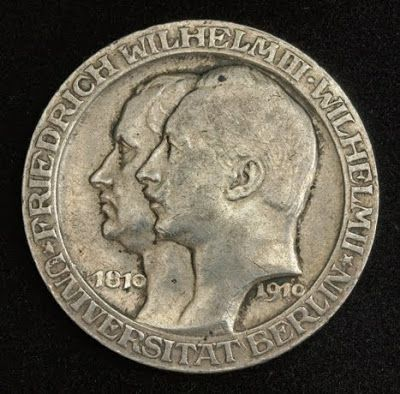 German States Coins Prussia 3 Mark Silver Commemorative coin of 1910, Berlin…