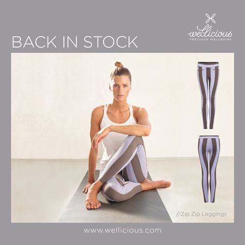 BACK IN STOCK! Our super stylish Zip Zip Leggings are now back in stock. Available in the uber cool Calm Grey/Cool Violet combination, get yours now, as we only have limited numbers!  www.wellicious.com/yoga-clothi…/…/zip-zip-leggings-7954.html