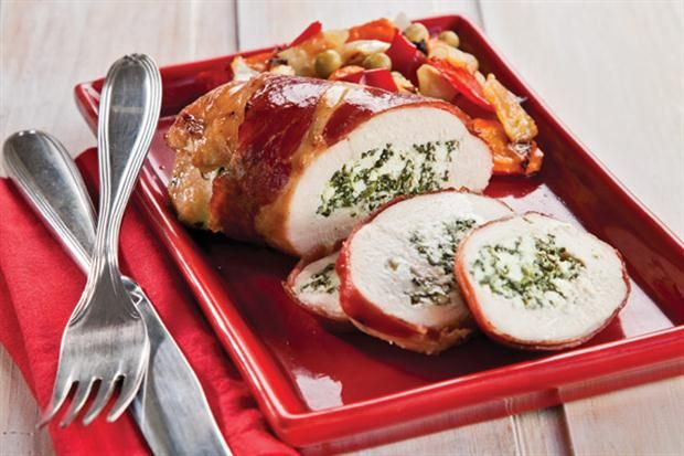 Pechugas de pollo rellenas  Foto:Magalí Saberian / Inés Auquer
