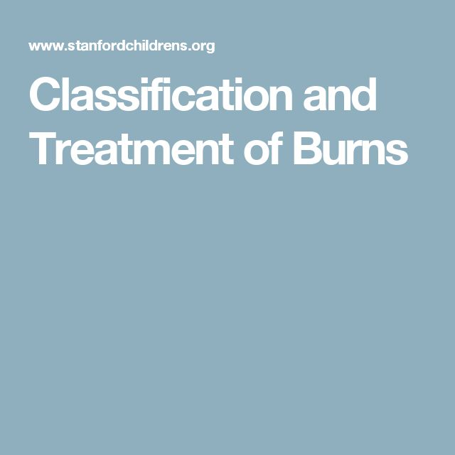Classification and Treatment of Burns