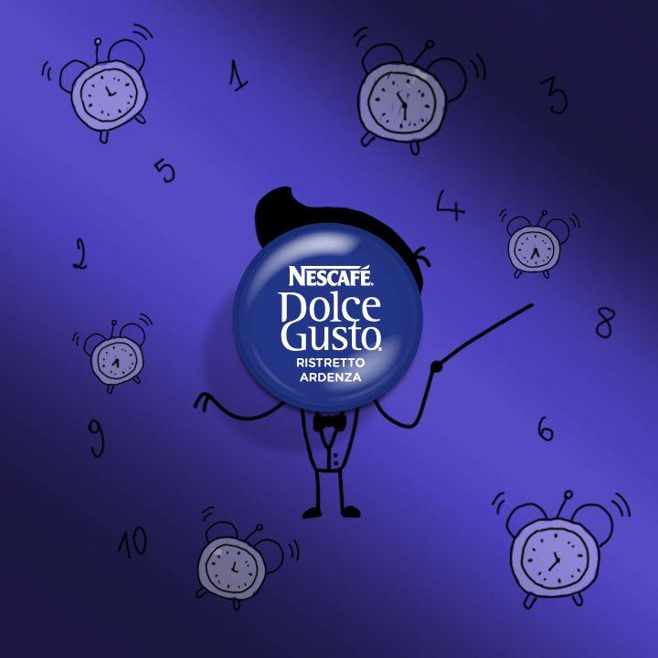 Stanotte si dorme un'ora in più, per il risveglio vi consigliamo un'armonia del nostro Maestro Ristretto Ardenza! (Pic by Nescafè Dolce Gusto)