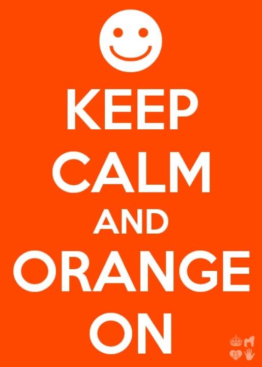 Keep calm and Orange on