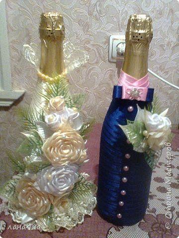 Декор предметов Свит-дизайн Свадьба Аппликация Моделирование конструирование свадебные хлопоты Ленты фото 1