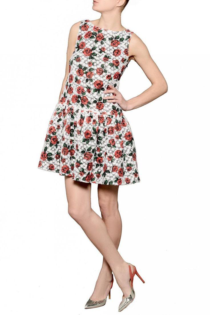 Noleggia gli abiti delle ultime collezioni dei più famosi stilisti e sfoggia un dress code perfetto Abito a vita bassa in organza con ricamo floreale - Flash Sales