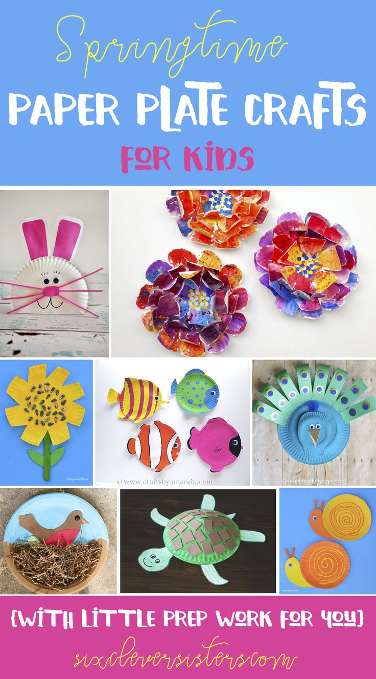 Spring Paper Plate Crafts for kids! Cute ideas for spring speech therapy!