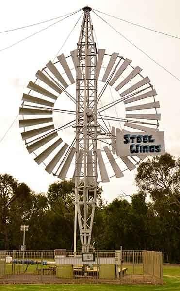 near the tank was this classy windmill (photo Chris Stimson)
