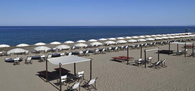 Tuscany SPA Hotel private beach - hotel on the sea in Tuscany - Tombolo Talasso Resort