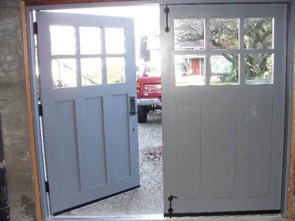 Hand-made custom Swing Carriage House Garage Doors and REAL Carriage House Garage Doors by Vintage Garage Door, LLC in Seattle, WA.