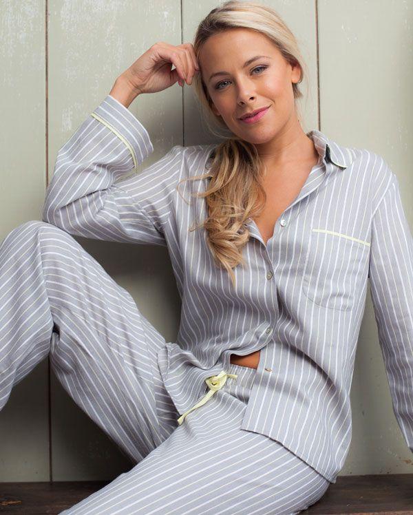 Katie Stripe Twill Pyjamas
