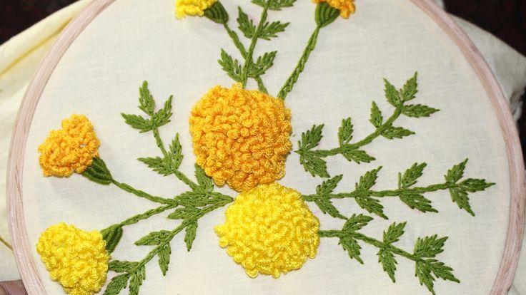 Hand Embroidery Designs | Stump work | Stitch and Flower-120