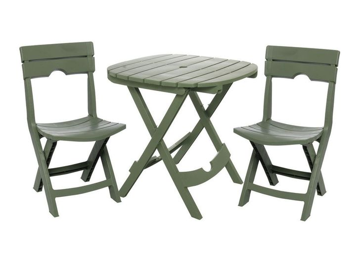 Patio Set Table and Two Chairs Cafe Bistro Set Garden Outdoor Small Furniture #AdamsManufacturing