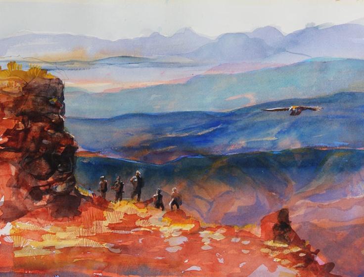 Drakensberg Sunset by Peter Croxon