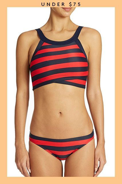 Summer's Not Over Yet — 21 Sweet Swimsuits On Sale Now #refinery29  http://www.refinery29.com/2015/08/91653/swimsuits-on-sale#slide-5  This top has an unexpected cross-front, longline finish that's as chic as it is comfortable. ...