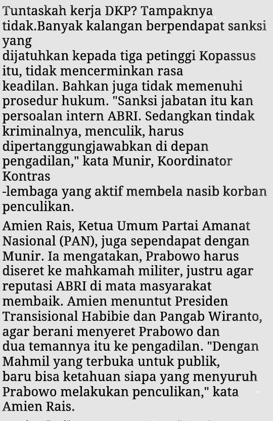 "Uda bawaan orok klo ga bs konsisten. ""@fadjroeL: Amien Rais mengatakan Prabowo harus diseret ke Mahkamah Militeer pic.twitter.com/ssMmGneK3C"""