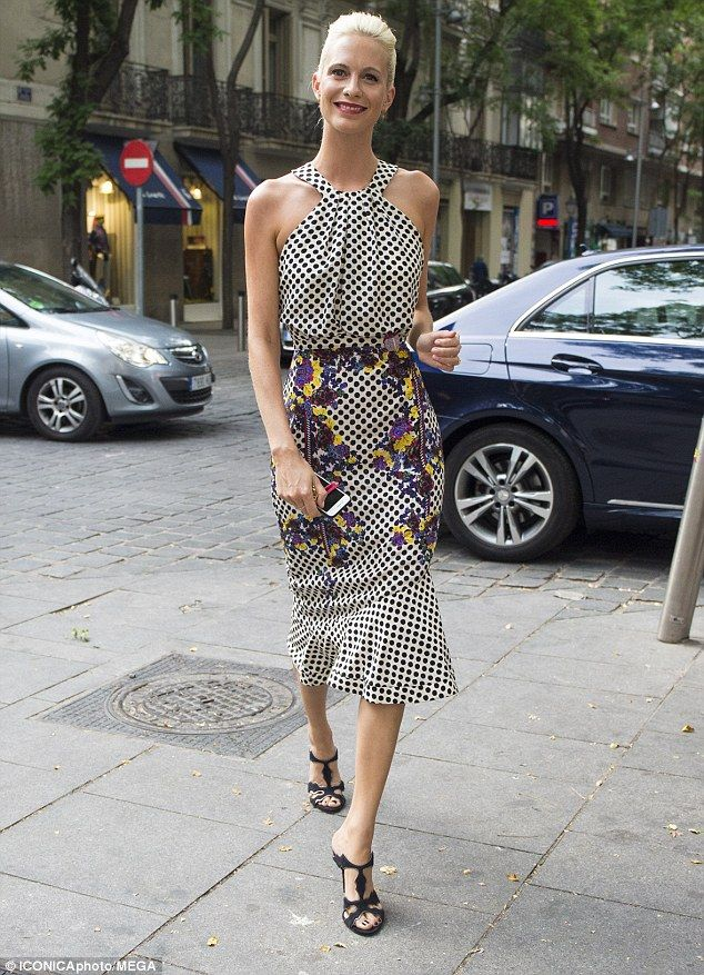 Picture perfect: Poppy Delevingne turned the streets of Madrid into her very own catwalk a...