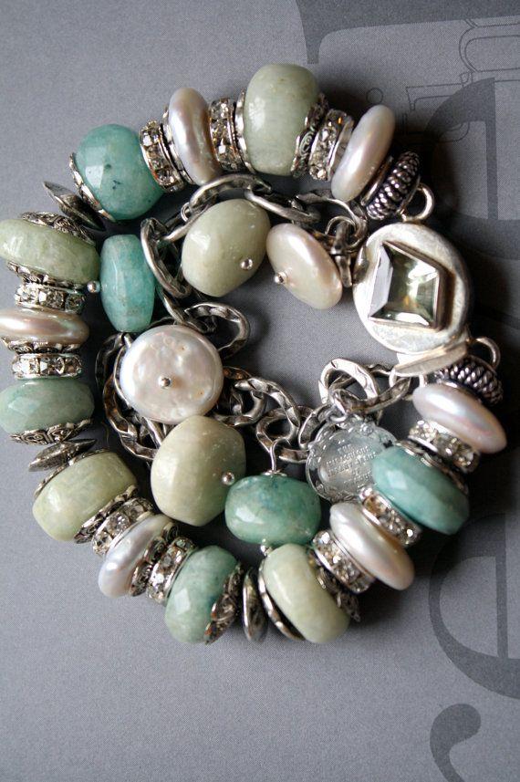 love the colors. molliecareyBulky Bracelets, Jewelry Bracelets, Colors, Pretty Combinations, Bracelets Collection, Bracelets Necklaces