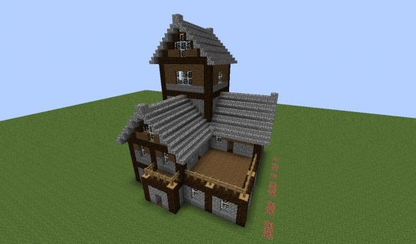 Minecraft Medieval House 06 590x346