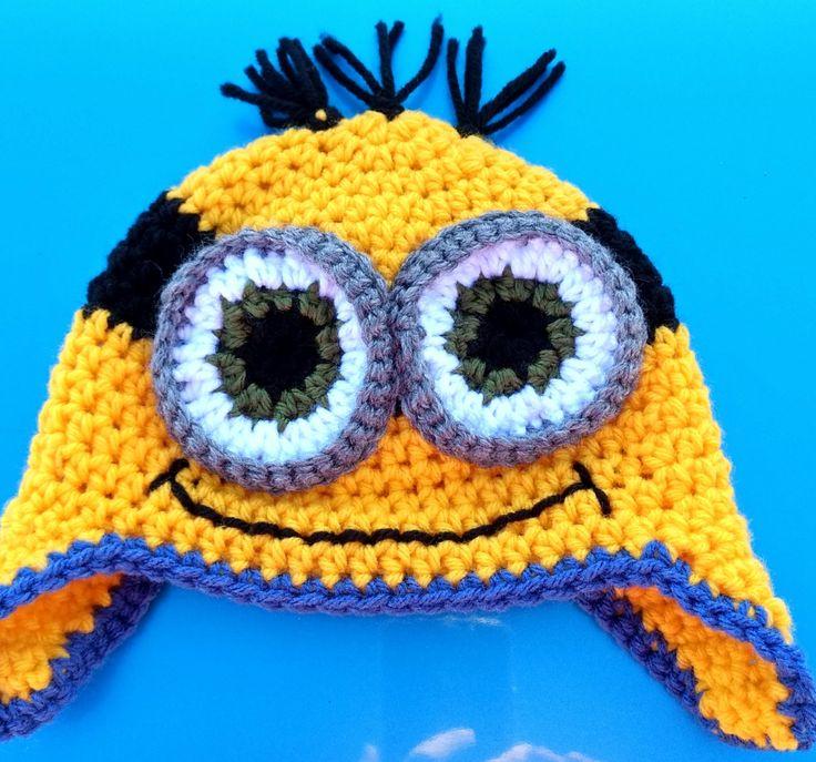 Minion Hat, 3-6 Month Minion Hat, Baby Minion Hat by FamilyCrochetCabinet on Etsy