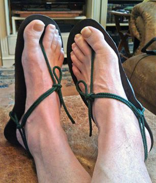 """XeroShoes huaraches - A lightweight option for """"camp shoes"""""""