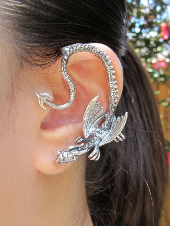 Dragon Ear Cuff Of Thrones Inspired Wrap Silver Throne Jewelry Non Pierced In 2018 Shiny Things