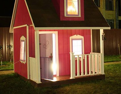 Деревянный игровой детский домик, игровая детская площадка. Детский домик для дачи, приусадебного участка. Домик из дерева МЕЧТА ПРИНЦЕССЫ.