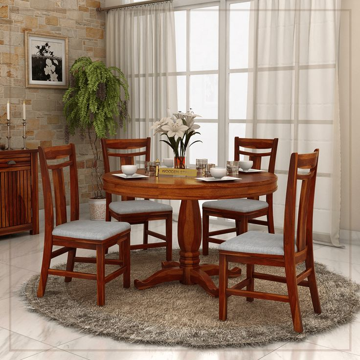 buy dining room furntiure online to achieve well arranged dining space the range of round dining table sets at wooden street is beautiful available in