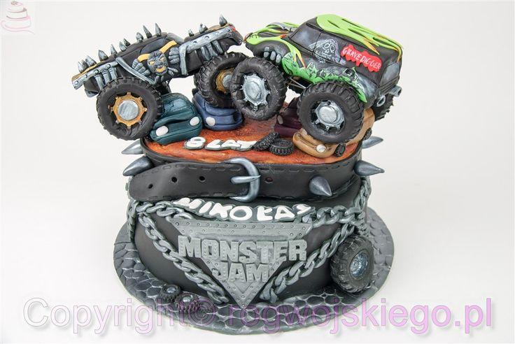 tort monster truck, monster jam, tort dla chłopaka, pomysł na tort, galeria tortów, http://rogwojskiego.pl