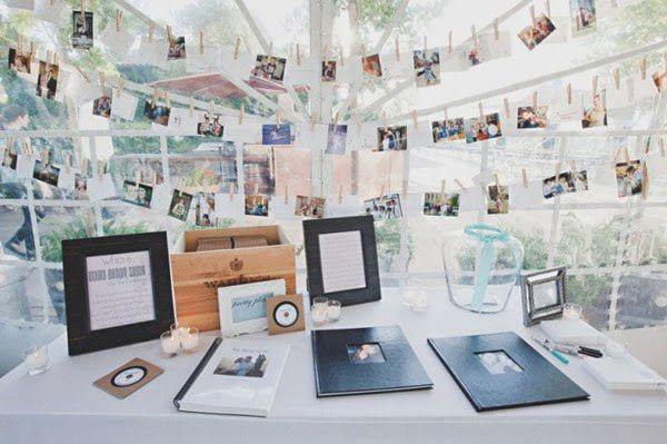matrimonio a tema fotografia, guestbook con polaroid