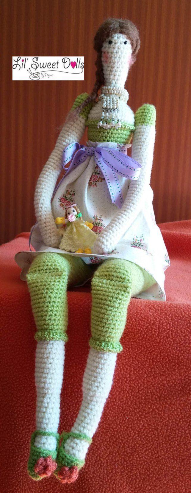 crochet ganchillo Tilda doll ♡
